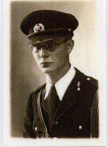 Gregor Heuer 10.10.1936 / Uniform der Estnischen Militär-Musik-Akademie